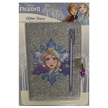 Diario glitter con candado Frozen 2