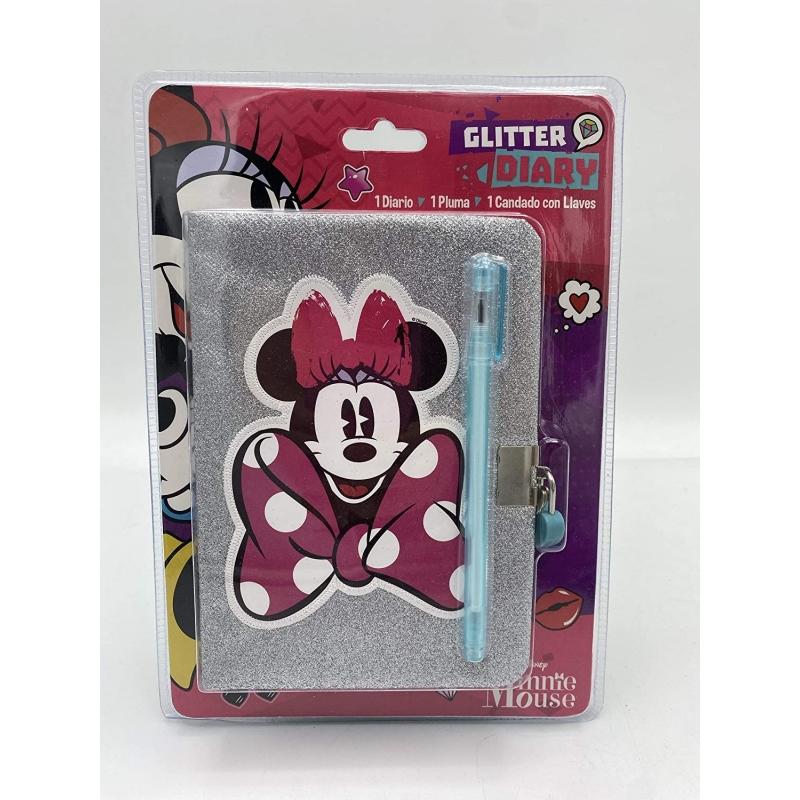 Diario glitter Minie Mouse
