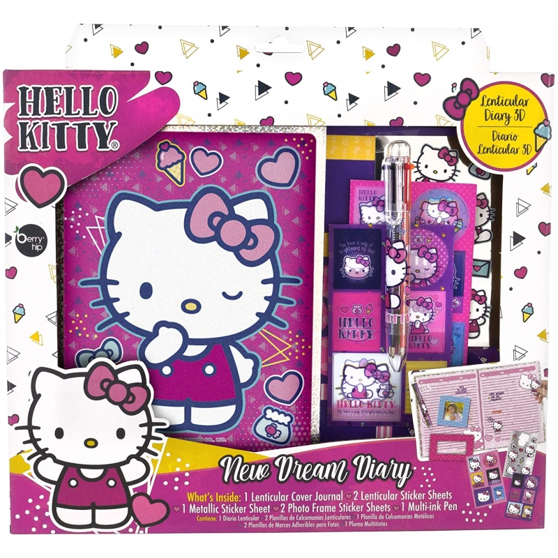 Diario Lenticular 3D Hello Kitty