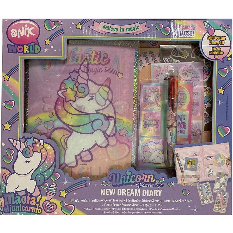 Diario Lenticular 3D Onix el unicornio