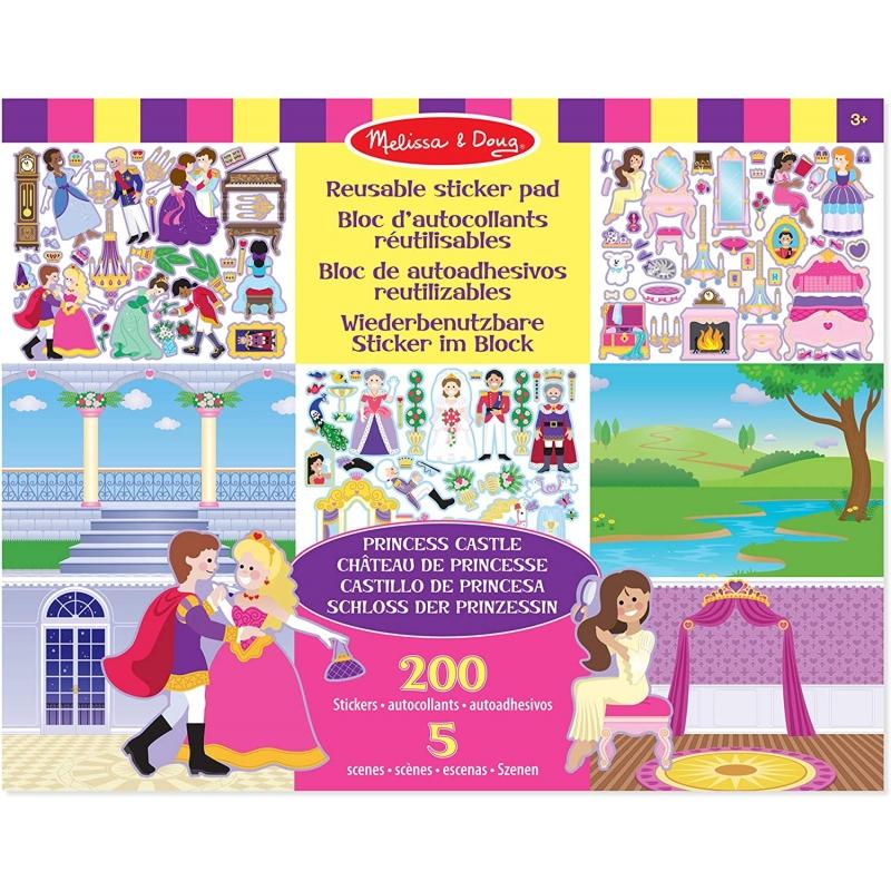 Melissa & Doug - Princess Castle Almohadillas Adhesivas Reutilizables