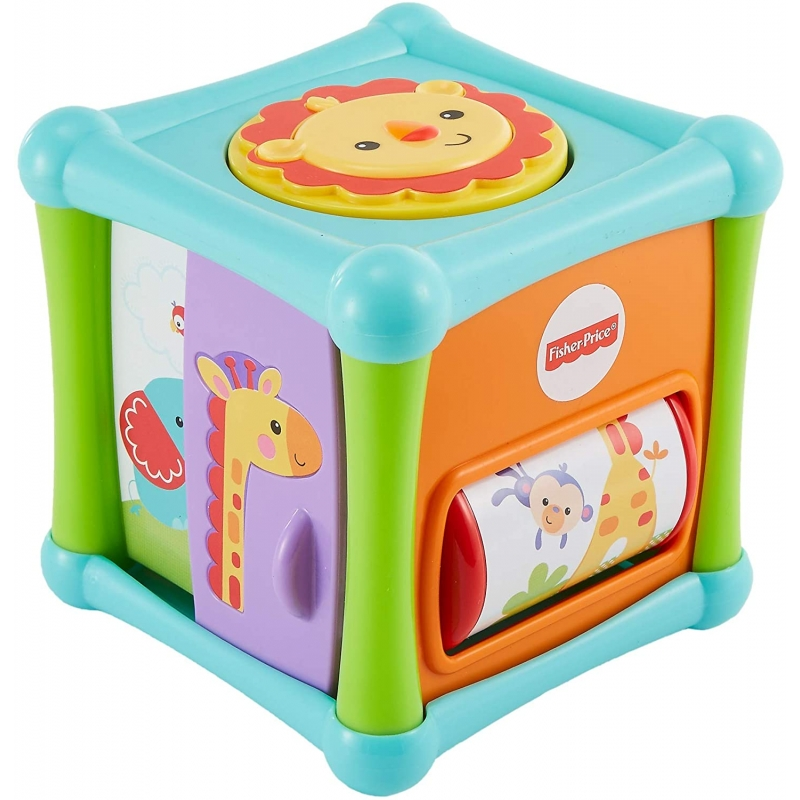 Fisher-Price Growing Baby Animal Activity Cube Multi Color