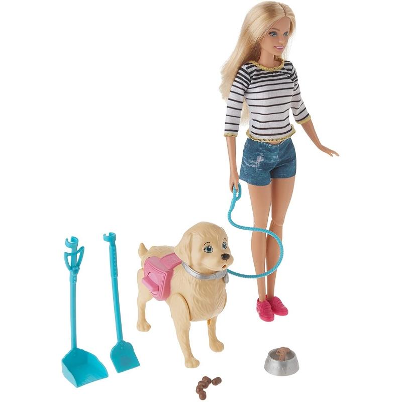Barbie Muñeca Paseo de Perrito